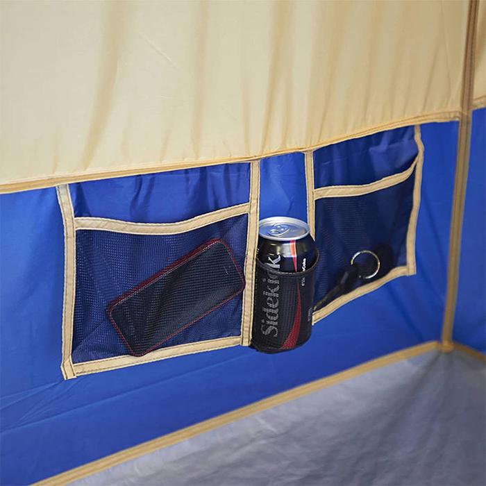 camping tent wall mesh pockets