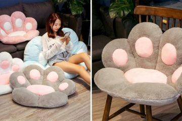 cat paw seat pillow