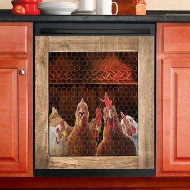 chicken coop dishwasher cover with no custom name