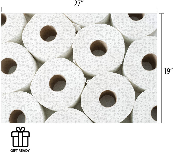 completeed toiled paper jigsaw puzzle