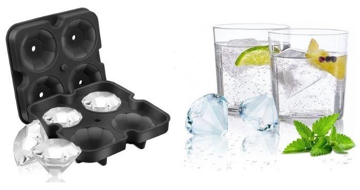 diamond-shaped ice cube tray