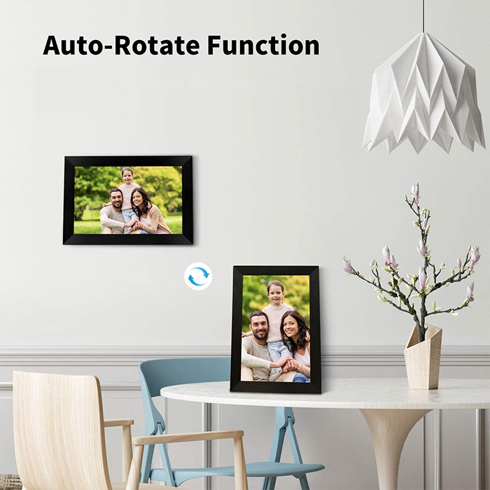 digital picture frame auto rotate