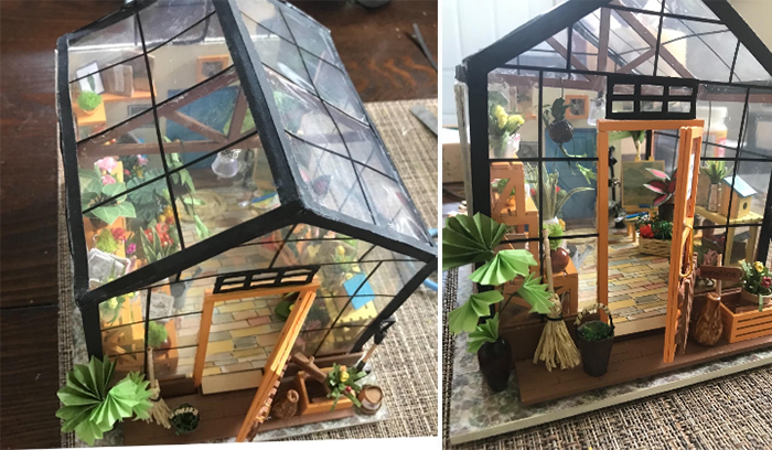 diy mini greenhouse kit finished product