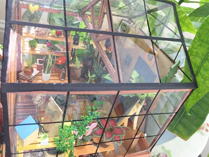 diy mini greenhouse kit tranparent walls