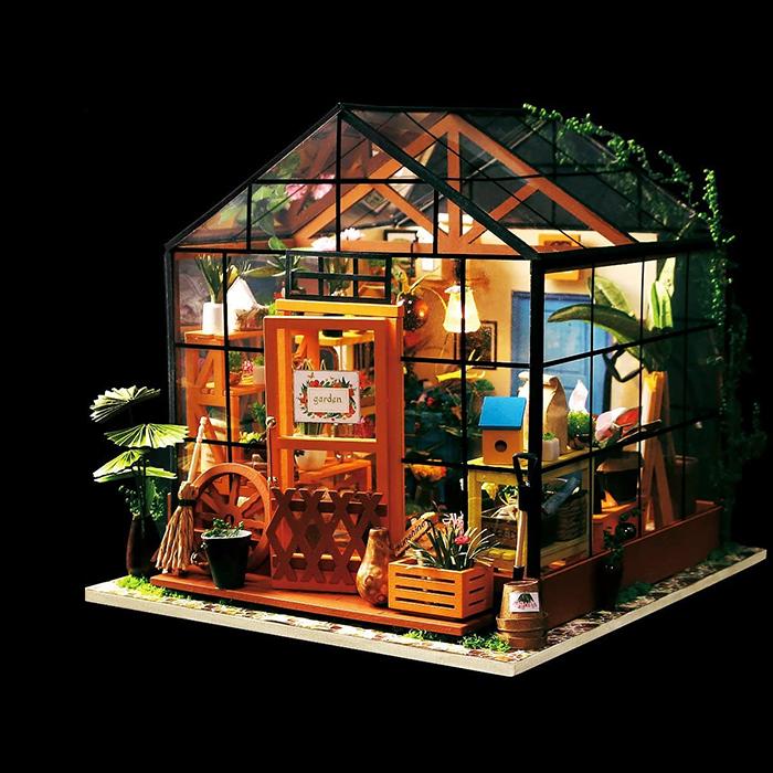 diy mini greenhouse kit with led light