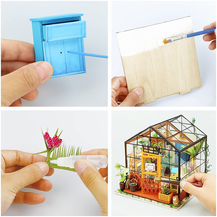 do-it-yourself miniature green house
