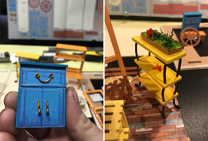 do-it-yourself miniature green parts