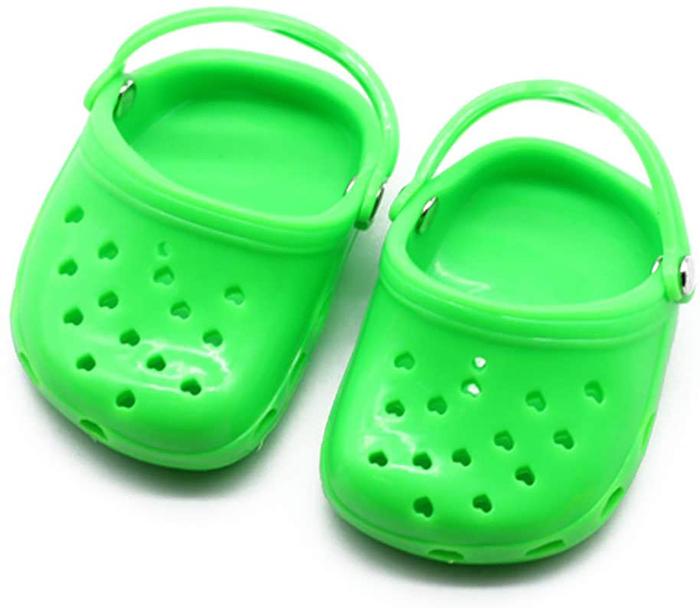 dog crocs green