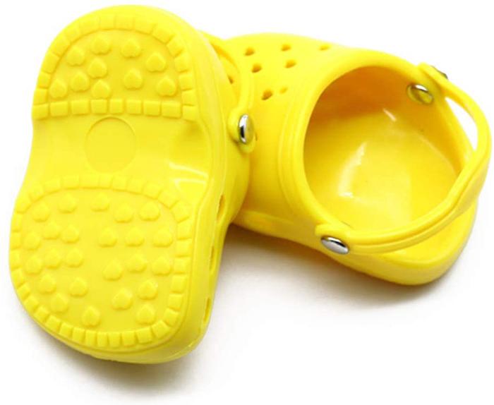 dog crocs yellow