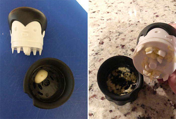 dracula garlic crusher kitchen tool