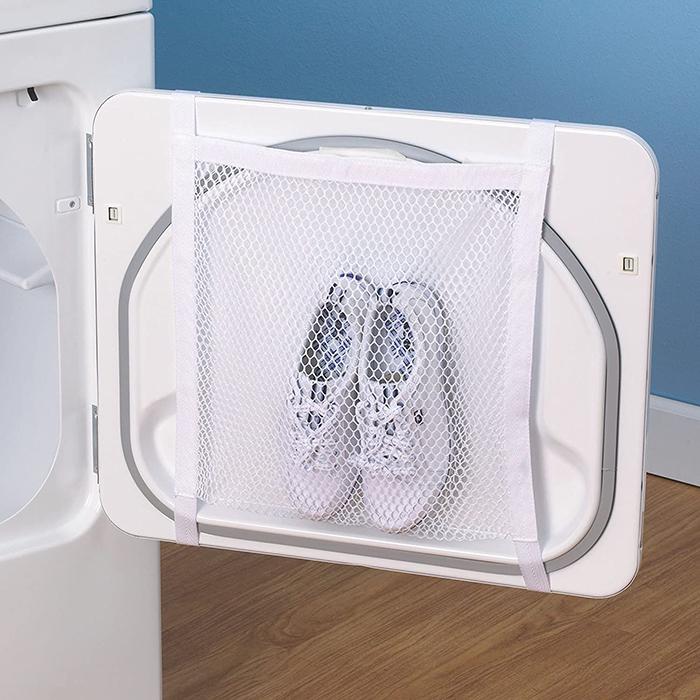 dryer door shoe net for laundry machines