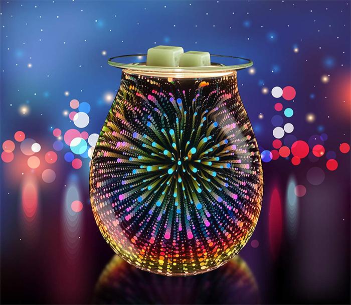 electric wax melt warmer 3d fireworks display