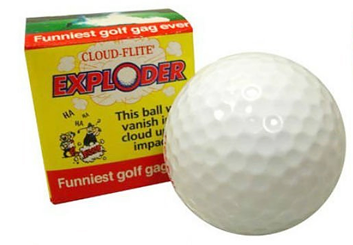exploding golf ball box