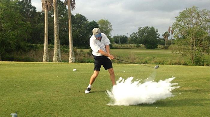 exploding golf ball