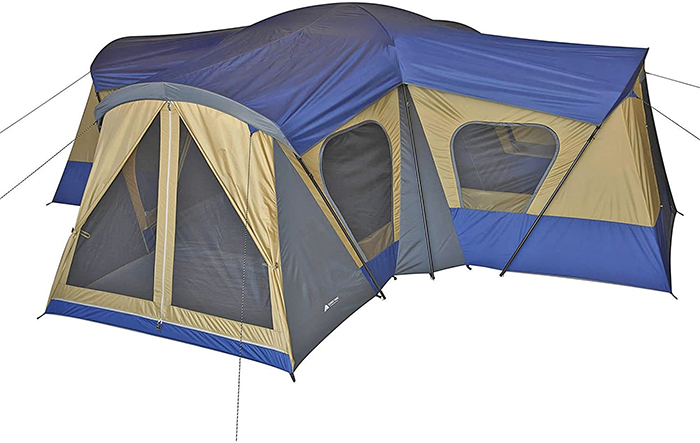 extra-large cabin-type camping tent
