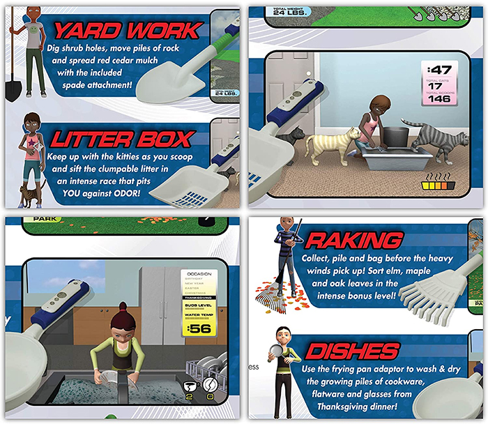 extreme chores video game gift box