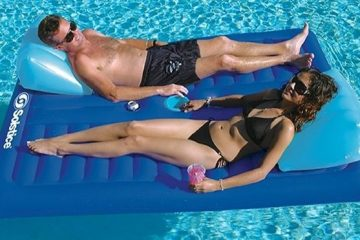 face-to-face double pool float