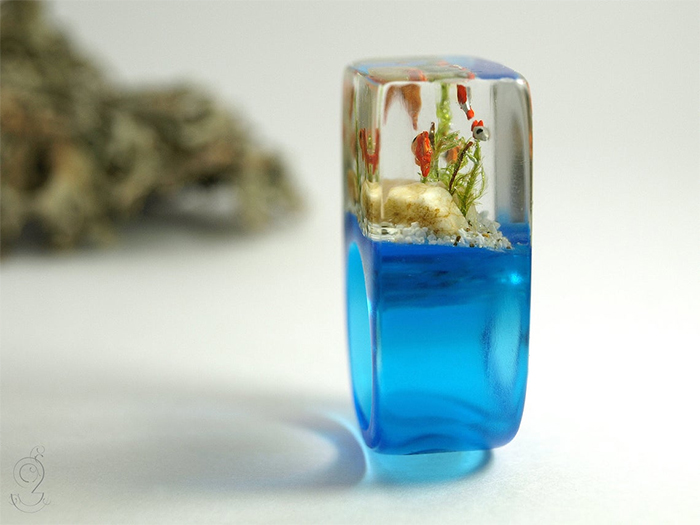 fish tank resin jewelry realistic