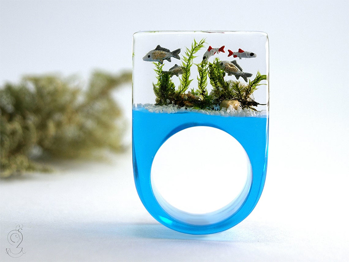 fish tank resin jewelry