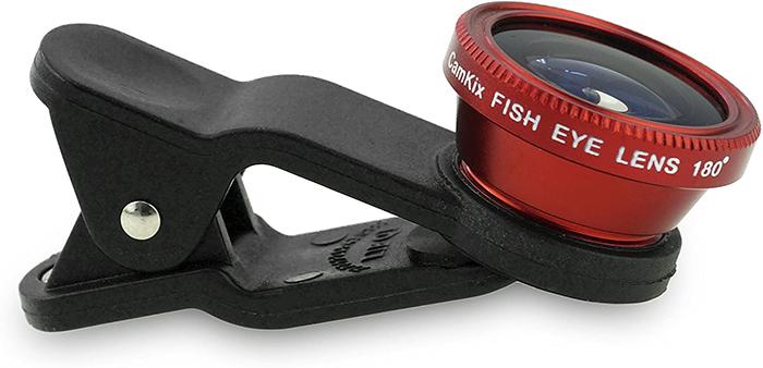 fisheye lenses clip on red