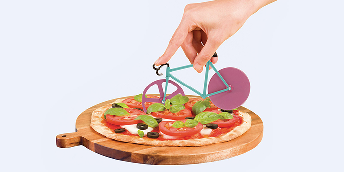 fixie bicycle shaped cutter for pizza