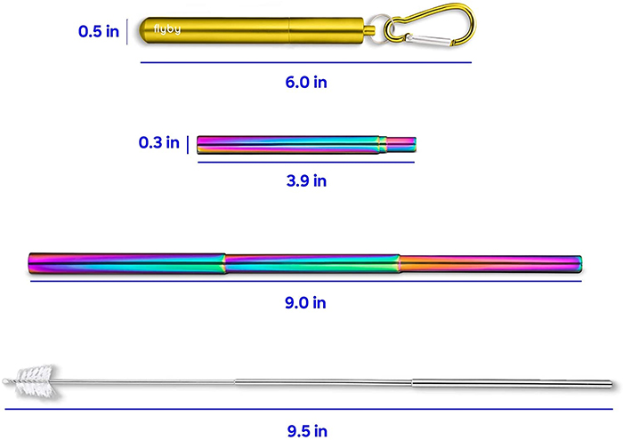 flyby resip straw adjustable length