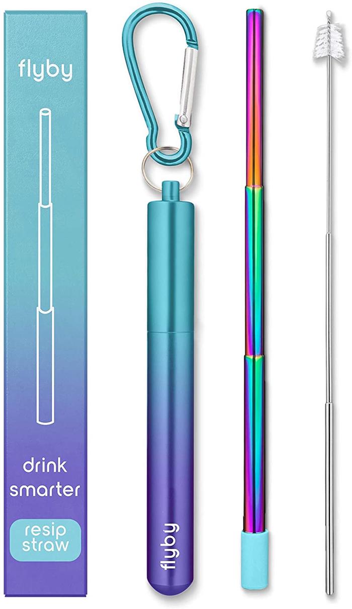flyby resip straw gradient purple teal