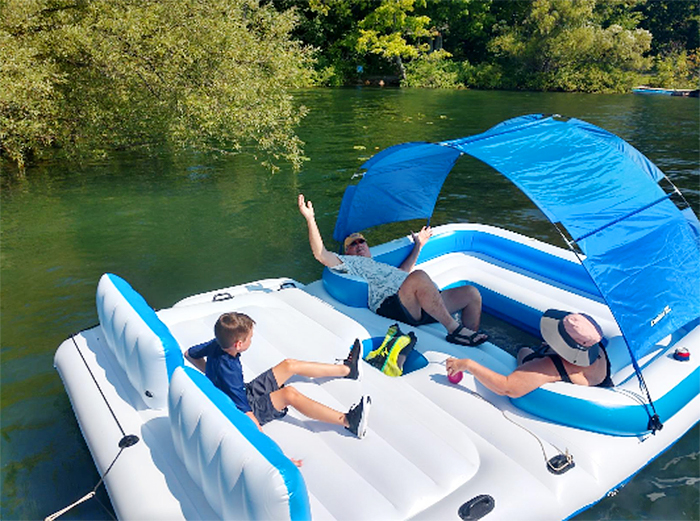 giant floating island raft inflatable