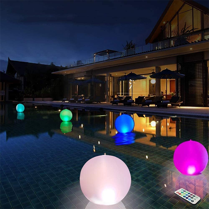 glowing inflatable pool balls