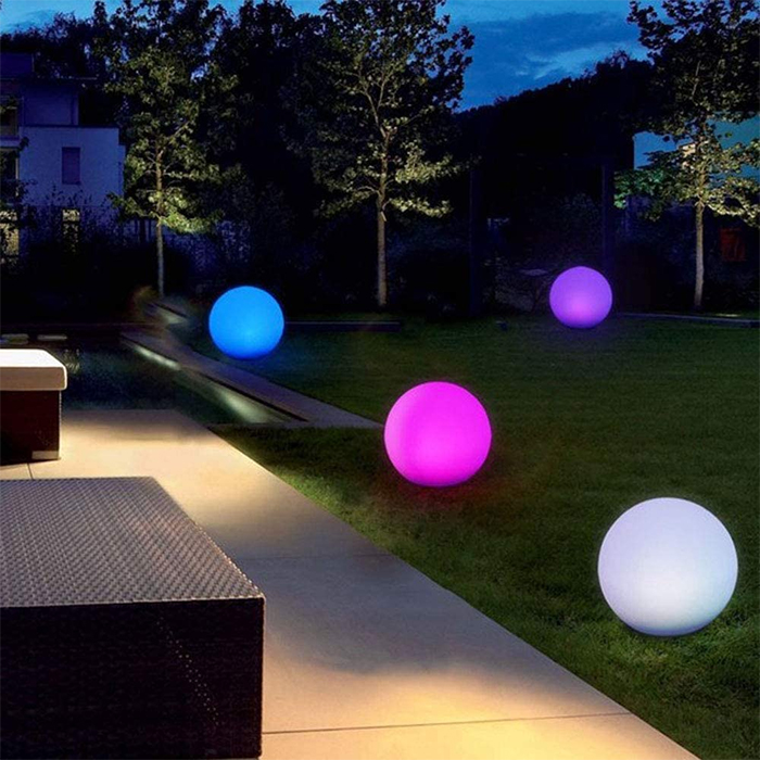 glowing inflatable rubber balls