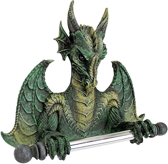 gothic dragon tissue holder