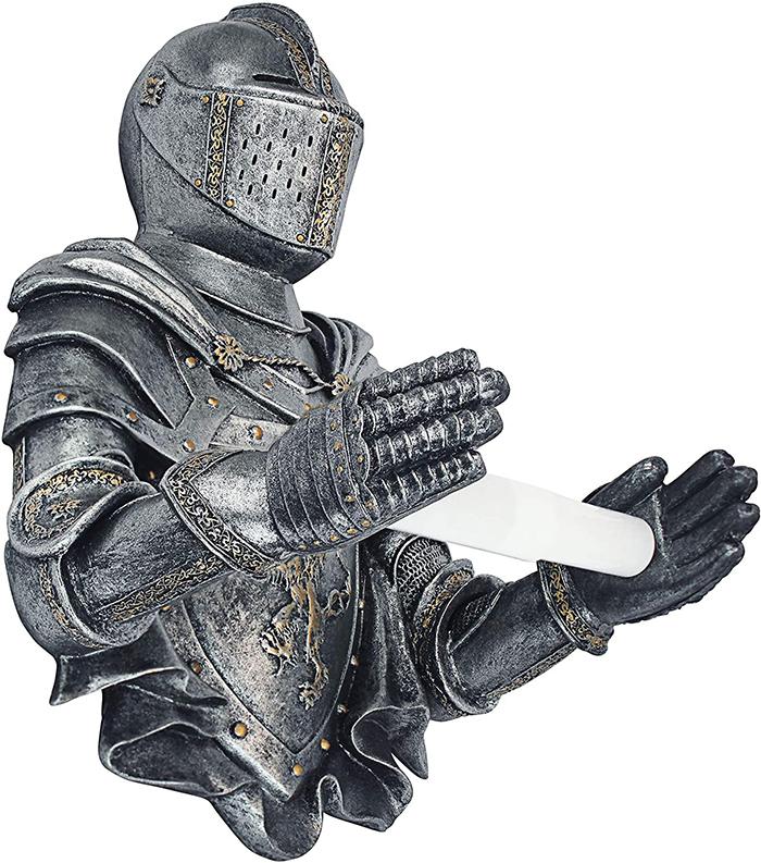 gothic knight tissue paper holder
