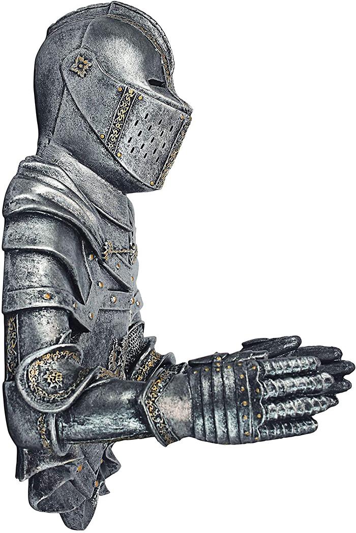 gothic knight toilet paper holder