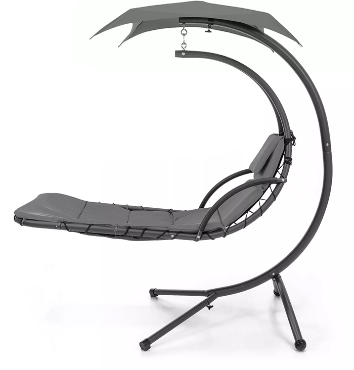 hammock-style swing chair charcoal grey