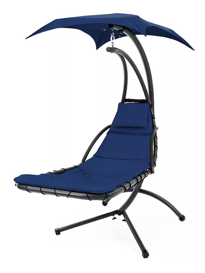 hammock-style swing chair navy blue