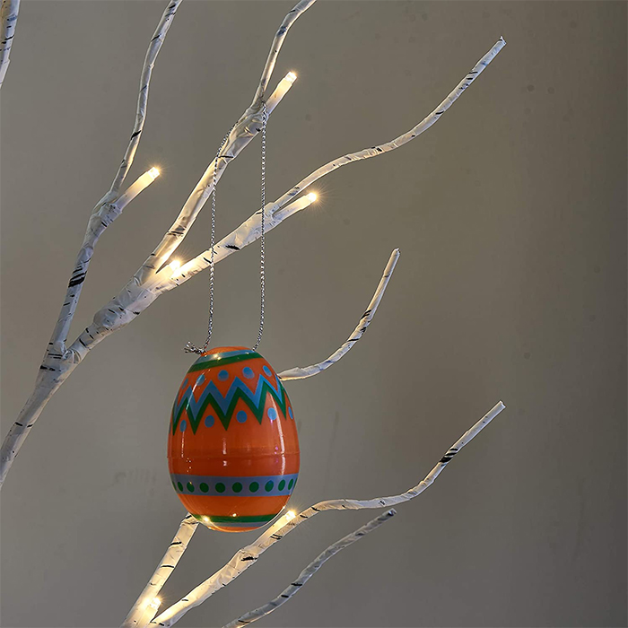 hanging painted eggs led lights