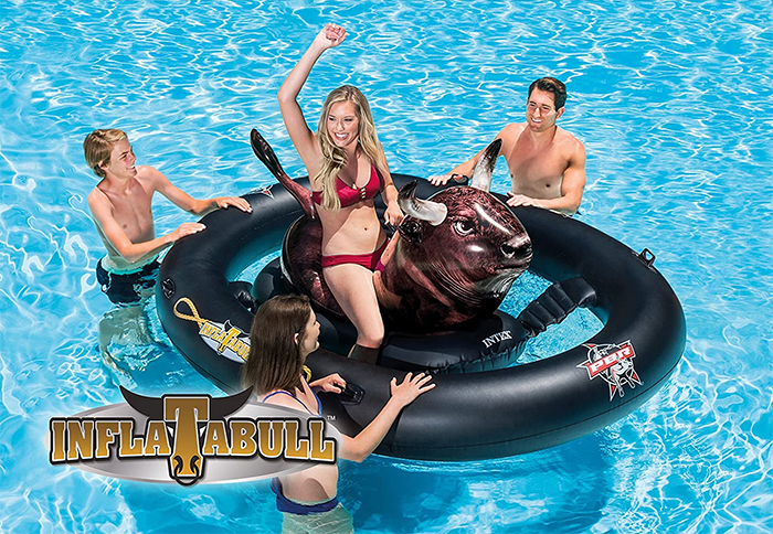 inflat-a-bull bull ride-on float
