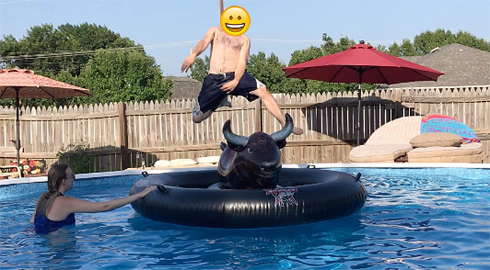 inflat-a-bull water rodeo