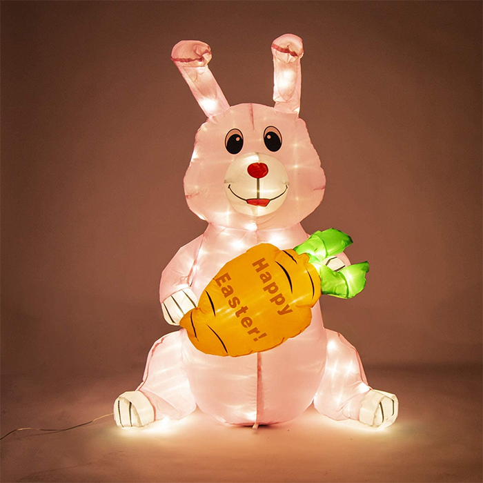 inflatable easter bunny led lights