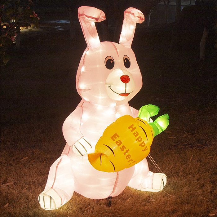 inflatable easter bunny outdoor decor
