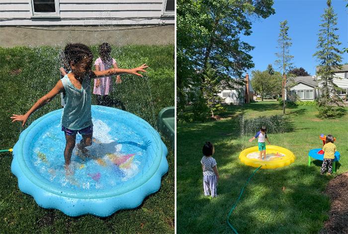 kiddie sprinkler pool adjustable water jets