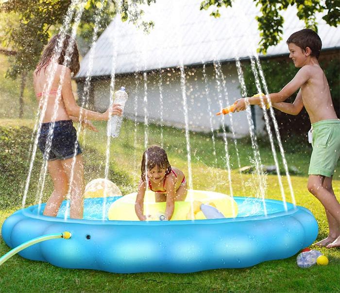 kiddie sprinkler pool water jet