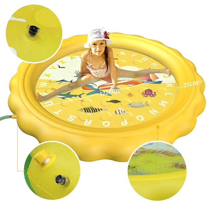 kiddie sprinkler pool yellow