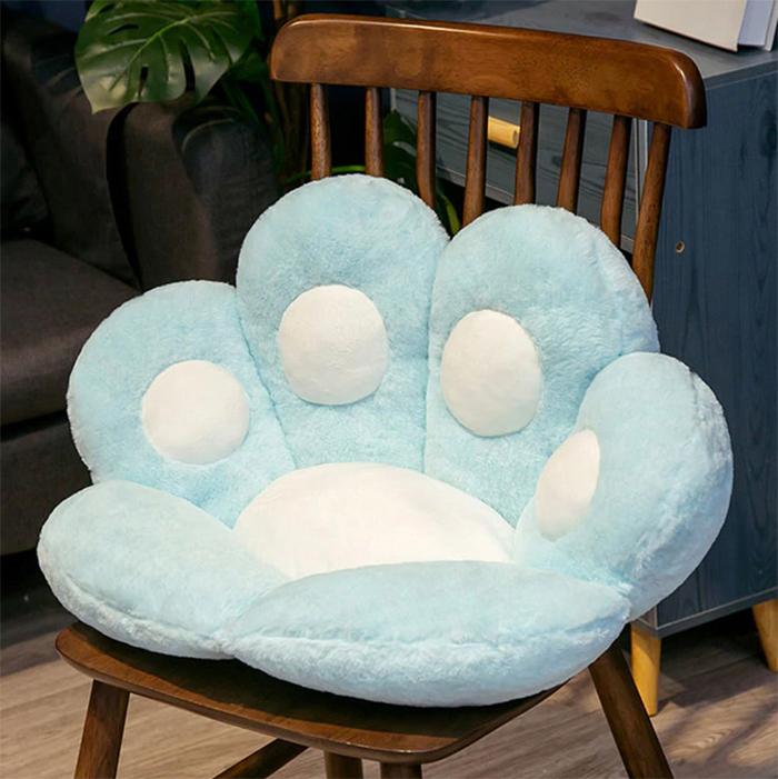 kitty paws cushion chair blue