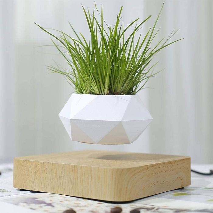 levitating planter geometric design