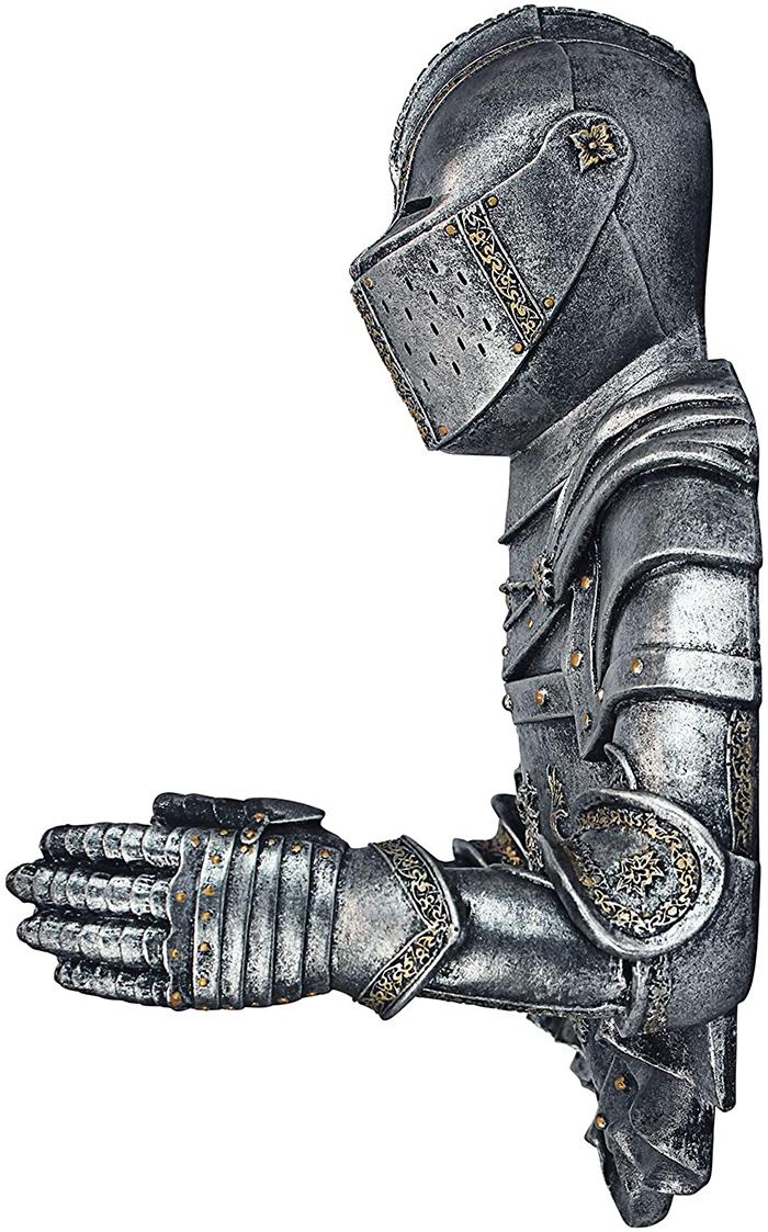 medieval knight bathroom tissue paper holder