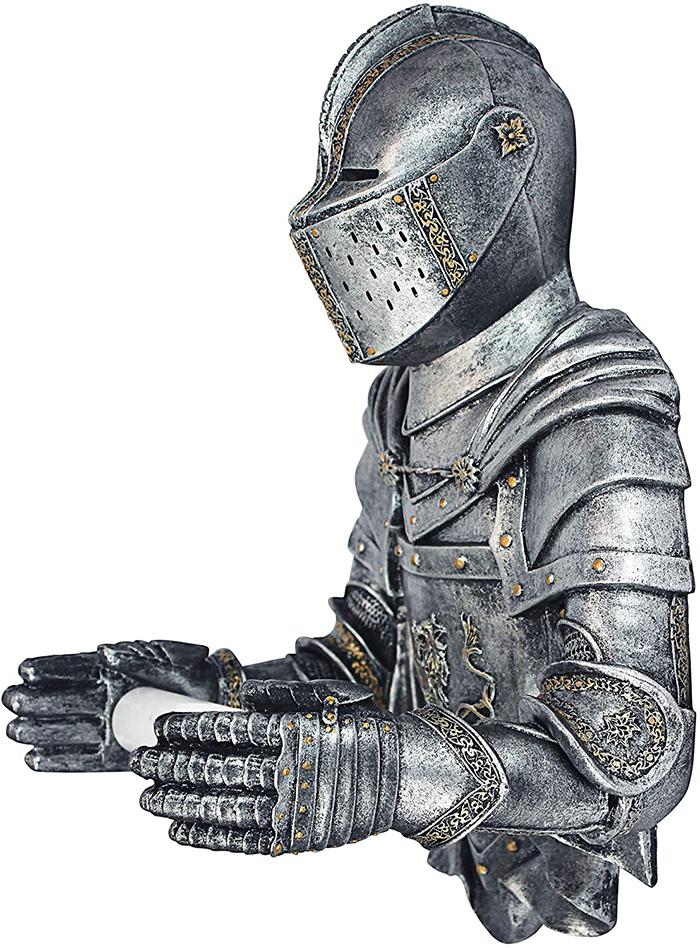 medieval knight tissue paper holder