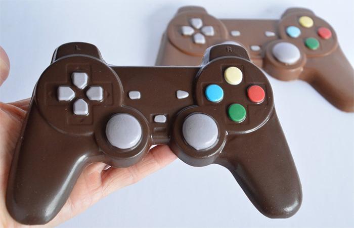 milk chocolate game controller