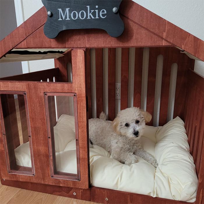 modern dog house rosewood finish