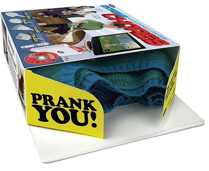 motion controlled video game prank box